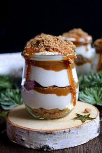 Crema di caramello e biscotto