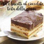 Torta e biscotti al cioccolato, torta della nonna
