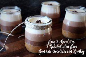 flan trio ciocolata con Bimby