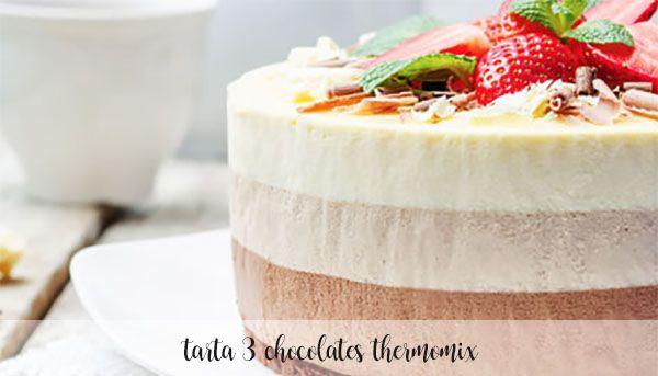 torta con tre cioccolatini con Bimby