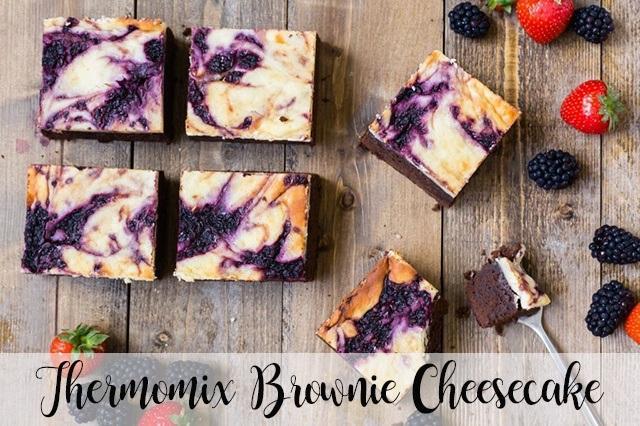 Brownie Cheesecake con il Bimby