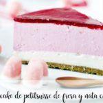 Cheesecake alla petit suisse di fragole e panna con il Bimby