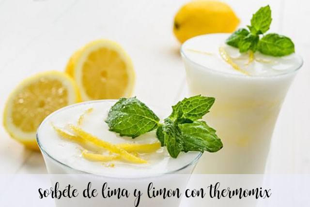Sorbetto al lime e limone con il Bimby