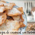Orecchie di carnevale (pasta zuccherata fritta) con Bimby