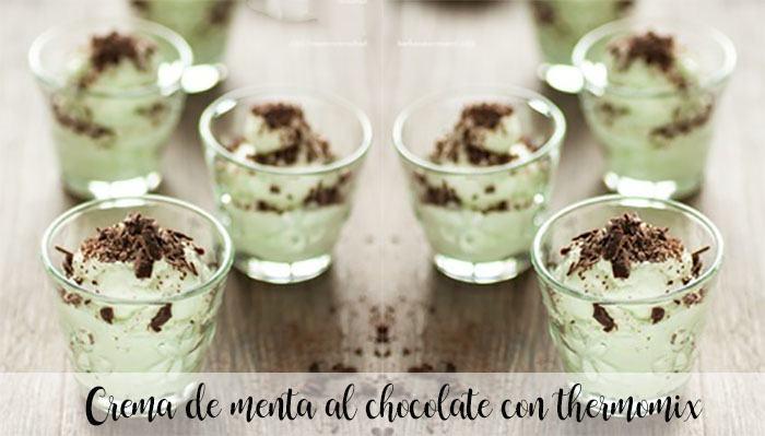 Crema di menta e cioccolato con Bimby
