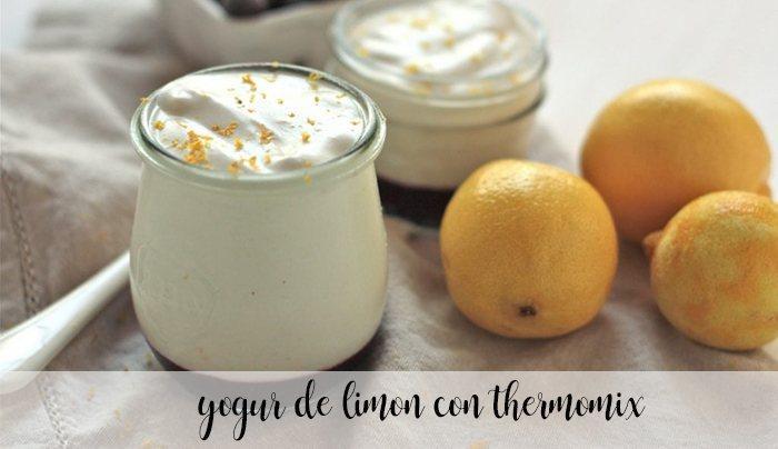 Yogurt al limone con Bimby