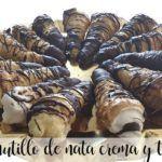 Canutilli ripieni di panna, crema pasticcera e tartufo con Bimby