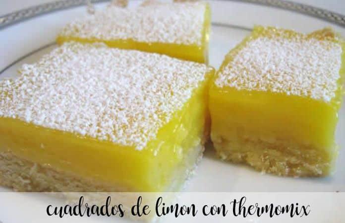 Quadrati di limone con Bimby