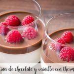 Gelatina di cioccolato e vaniglia con Bimby