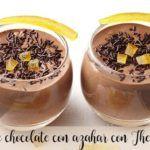 Mousse al cioccolato con fiori d'arancio con Bimby