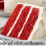 Torta thermomix di velluto rosso
