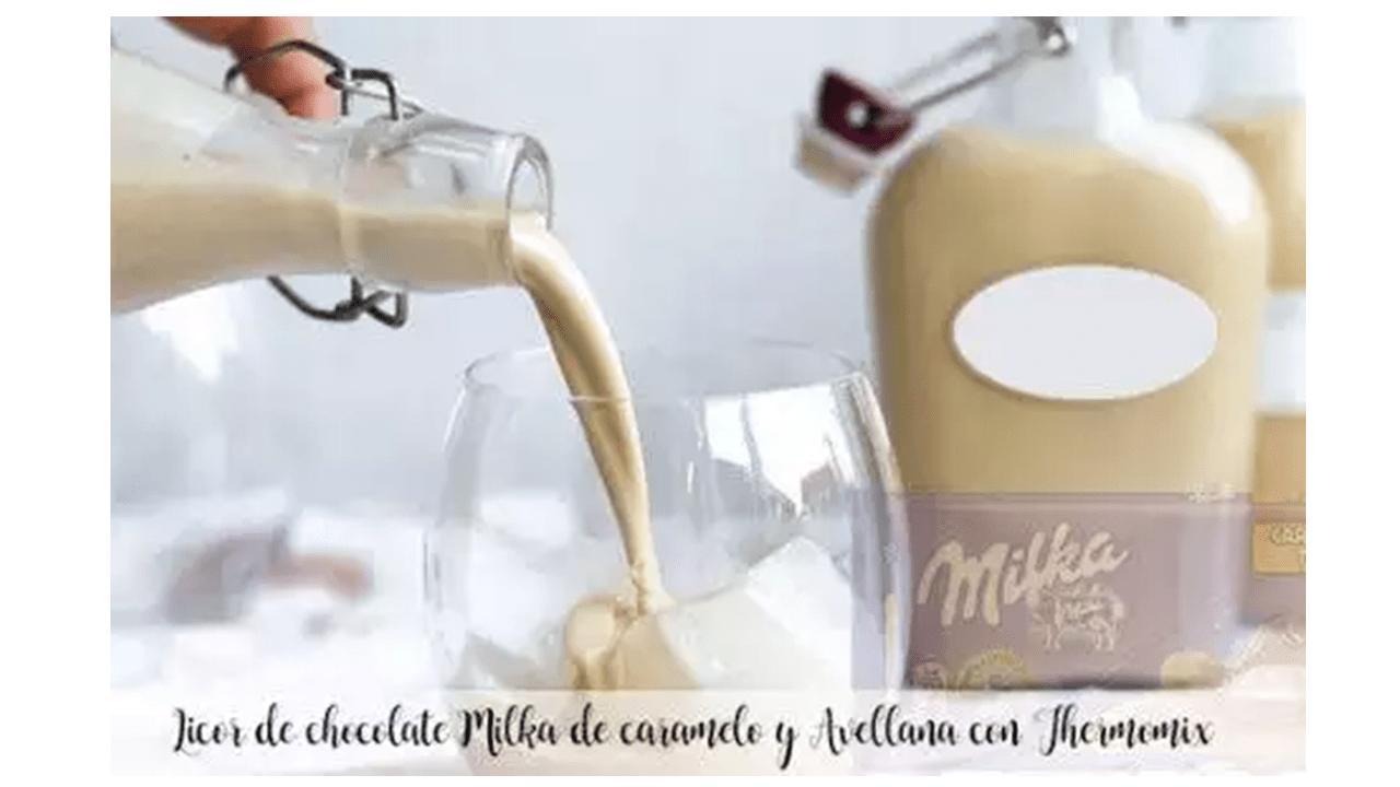 Liquore al caramello al latte e cioccolato alla nocciola con Bimby