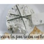 Crema di formaggio alle erbe con Bimby