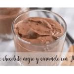 Mousse di cioccolato fondente e caramello con Bimby