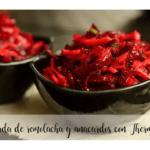 Ricetta dell'insalata di barbabietola e anacardi nella Bimby