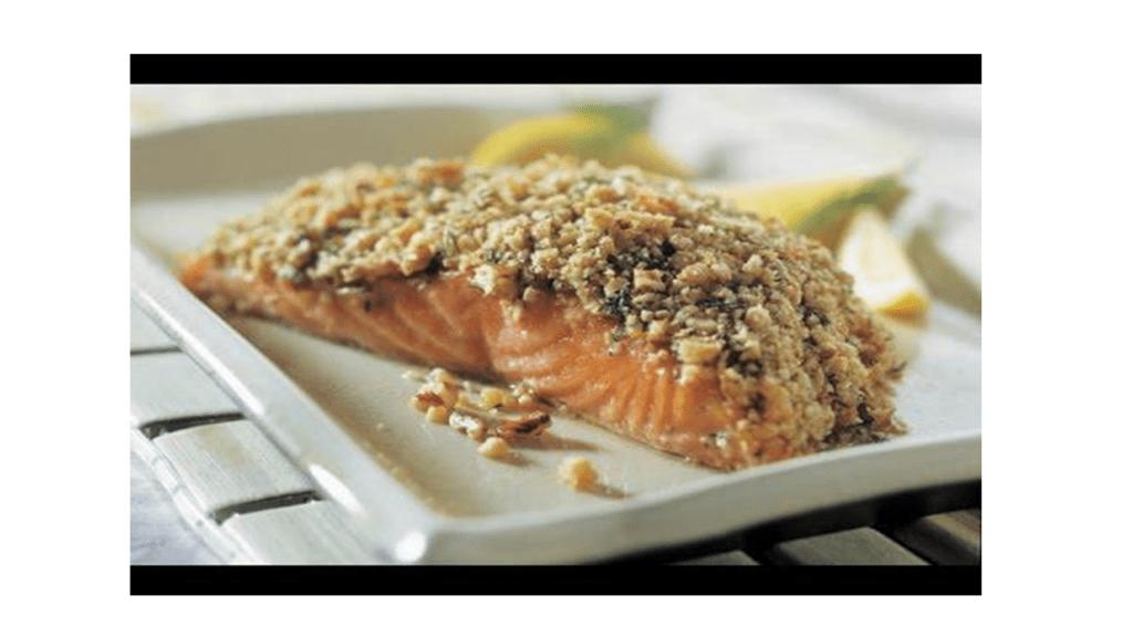 Salmone con croccante al pistacchio nel Bimby