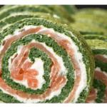 Rotolo di spinaci, salmone e formaggio di Philadelphia con Bimby