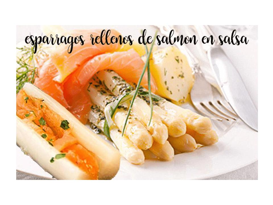 Asparagi ripieni di salmone con salsa piccante con Bimby