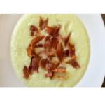 Zuppa fredda di melone con trucioli tostati di prosciutto iberico in Bimby