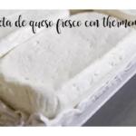 Prepara un formaggio fresco con Bimby