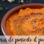 Piquillo pepe hummus con Bimby