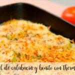 Torta di zucchine e bonito con Bimby