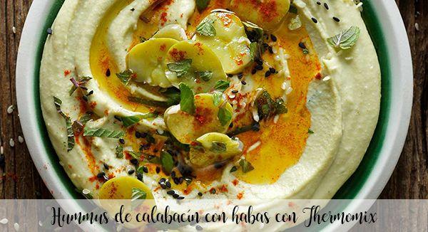 Hummus di zucchine con fagioli con Bimby